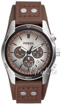 Fossil Casual Sølvfarvet/Læder