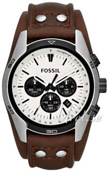 Fossil Chronograph Hvid/Læder