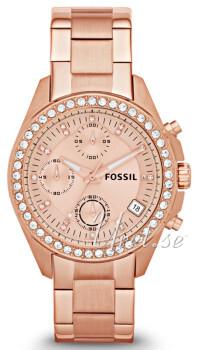 Fossil Decker Rosa guldfarvet/Rosaguldtonet stål