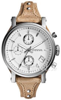 Fossil Hvid/Læder