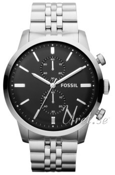 Fossil Townsman Sort/Stål Ø48 mm