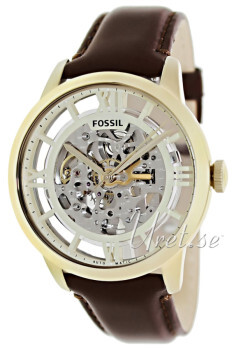 Fossil Sølvfarvet/Læder