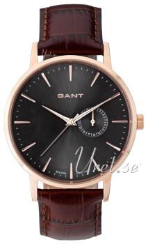Gant Park Hill II Sort/Læder Ø42 mm