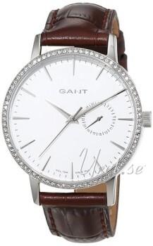 Gant Park Hill II Sølvfarvet/Læder Ø38 mm