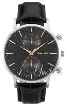 Gant Sort/Læder Ø44 mm