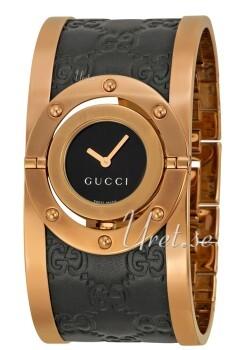 Gucci Twirl Sort/Rosaguldtonet stål