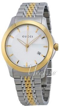 Gucci G-Timeless Sølvfarvet/Gul guldtonet stål Ø38 mm
