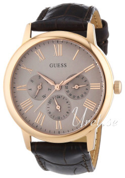 Guess Wafer Sølvfarvet/Læder Ø39 mm
