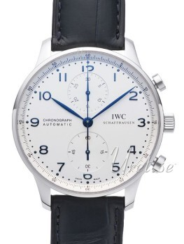 IWC Portuguese Sølvfarvet/Læder Ø40.9 mm