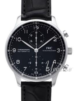IWC Portuguese Sort/Læder Ø40.9 mm