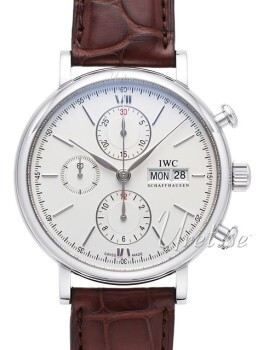 IWC Portofino Chronograph Sølvfarvet/Læder Ø42 mm