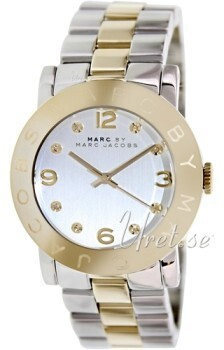 Marc by Marc Jacobs Amy Sølvfarvet/Gul guldtonet stål Ø36 mm