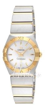 Omega Constellation Quartz 24mm Sølvfarvet/18 karat guld Ø24 mm