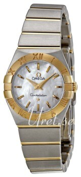 Omega Constellation Quartz 24mm Sølvfarvet/18 karat guld