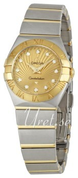Omega Constellation Quartz 24mm Champagne/18 karat guld