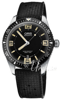 Oris Diving Sort/Gummi