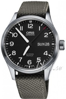 Oris Oris Aviation Sort/Tekstil