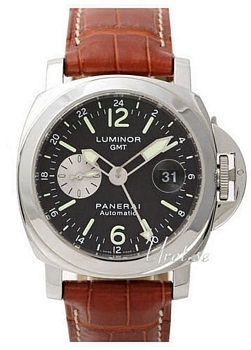 Panerai Contemporary Luminor GMT Sort/Læder Ø44 mm