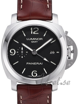 Panerai Contemporary Luminor 1950 3 Days GMT Automatic Sort/Læde