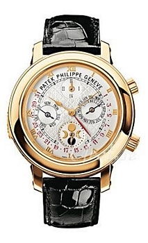 Patek Philippe Grand Complications Sky Moon Tourbillon Hvid/Læde