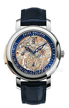 Patek Philippe Grand Complications Skeletskåret/Læder Ø43 mm