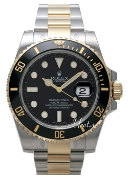 Rolex Submariner Black Dial Gold/Steel Ceramic Bezel