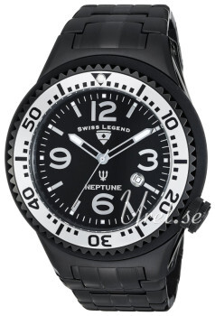 Swiss Legend Neptune Sort/Stål Ø40 mm