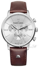 Maurice Lacroix Eliros Chronograph Sølvfarvet/Læder Ø40 mm