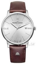 Maurice Lacroix Eliros Date Sølvfarvet/Læder Ø40 mm