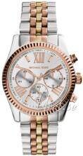 Michael Kors Lexington Chronograph Hvid/Gul guldtonet stål