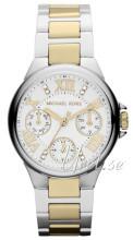 Michael Kors Chronograph Hvid/Gul guldtonet stål