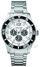 Nautica Multifunction Hvid/Stål Ø44 mm