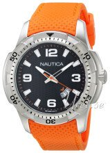 Nautica Analog Sort/Gummi Ø46 mm