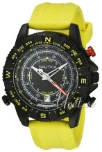 Nautica Analog Sort/Gummi Ø47 mm