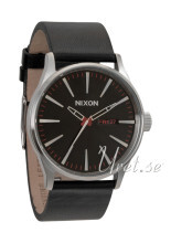 Nixon The Sentry Leather Sort/Læder