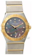 Omega Constellation Quartz 24mm Grå/18 karat guld