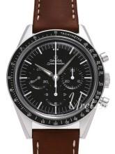 Omega Speedmaster Moonwatch Numbered Edition 39.7mm Sort/Læder Ø