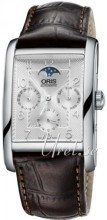Oris Oris Culture Sølvfarvet/Læder 47x32 mm