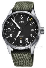 Oris Aviation Sort/Tekstil Ø45 mm