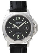 Panerai Contemporary Luminor Marina Automatic Sort/Læder Ø44 mm