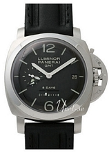 Panerai Historic Luminor 1950 8 Days GMT Sort/Læder Ø44 mm