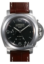 Panerai Contemporary Luminor 1950 10 Days GMT Sort/Læder Ø44 mm