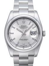 Rolex Datejust Steel Sølvfarvet/Stål Ø36 mm