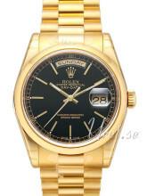 Rolex Day-Date 36 Sort/18 karat guld