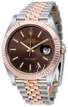 Rolex Datejust41 Brun/18 karat rosa guld Ø41 mm