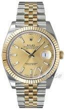 Rolex Datejust41 Guldfarvet/18 karat guld
