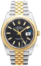 Rolex Datejust 41 Sort/18 karat guld Ø41 mm