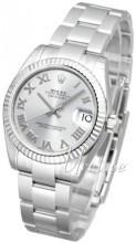 Rolex Datejust Midsize Sølvfarvet/Stål