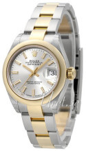 Rolex Lady-Datejust 28 Sølvfarvet/18 karat guld Ø28 mm