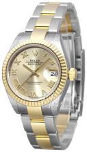 Rolex Lady-Datejust 28 Guldfarvet/18 karat guld Ø28 mm